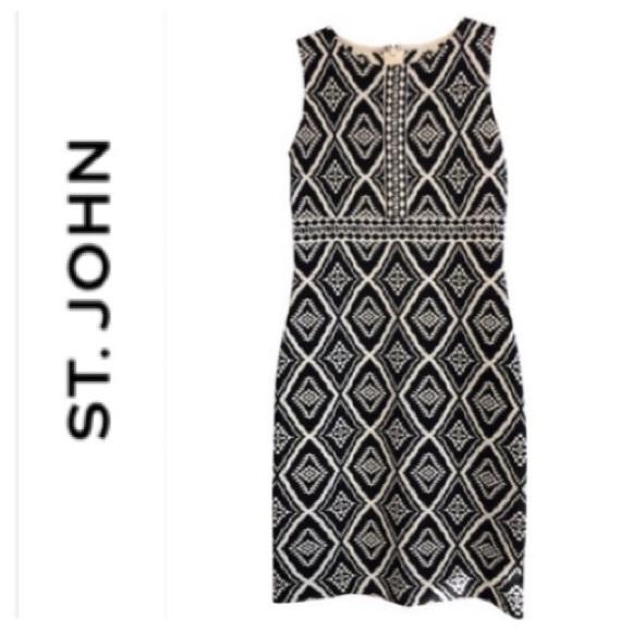 St. John Dresses & Skirts - ST. JOHN Collection - Black and White dress
